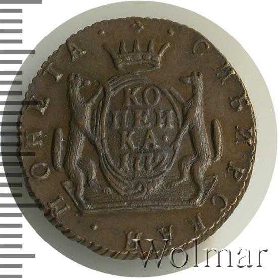 1 копейка 1772 г. КМ. Сибирская монета (Екатерина II). Новодел
