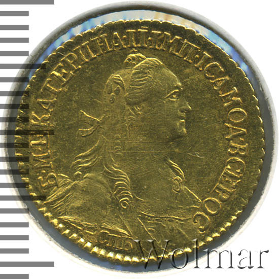 2 рубля 1766 г. СПБ. Екатерина II (Для дворцового обихода) Тиражная монета