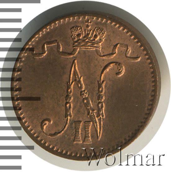 1 пенни 1906 г. Для Финляндии (Николай II).