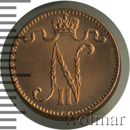 1 пенни 1913 г. Для Финляндии (Николай II).