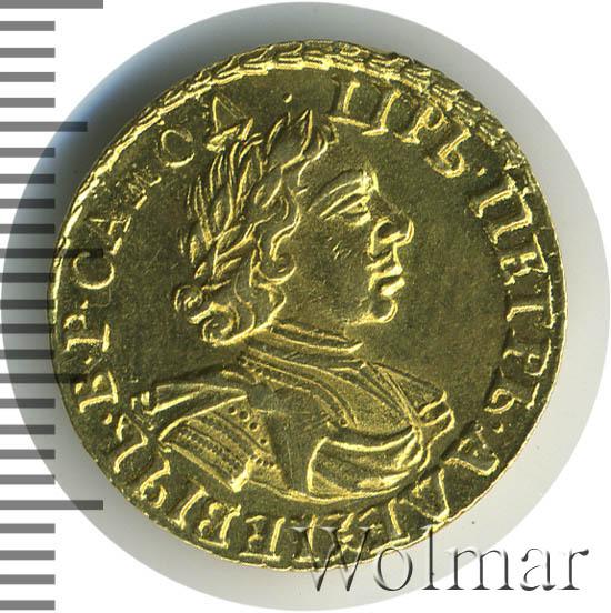 2 рубля 1718 г. L. Петр I Портрет в латах.