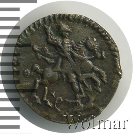 1 копейка 1718 г. L. Петр I Тиражная монета. Инициал минцмейстера