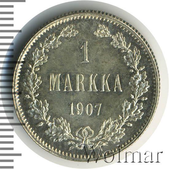 1 марка 1907 г. L. Для Финляндии (Николай II).