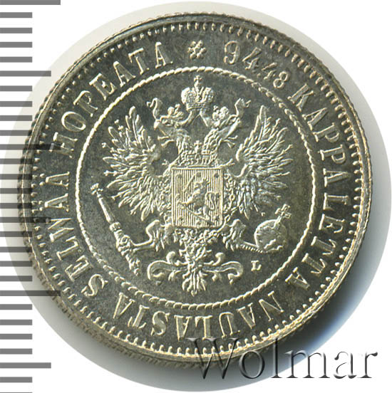 1 марка 1907 г. L. Для Финляндии (Николай II)