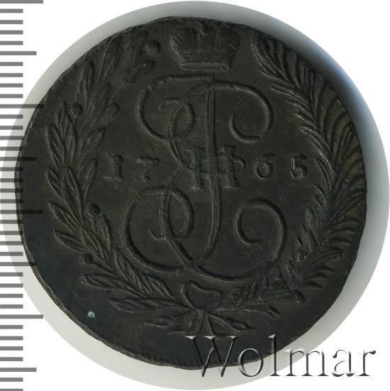 2 копейки 1765 г. ММ. Екатерина II. Буквы ММ