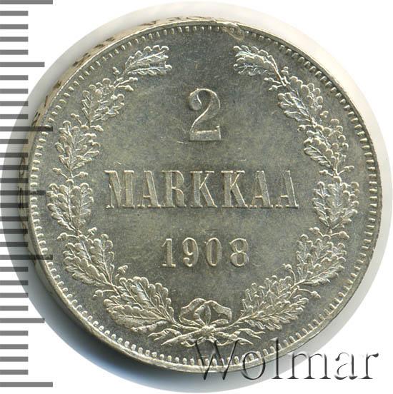 2 марки 1908 г. L. Для Финляндии (Николай II).