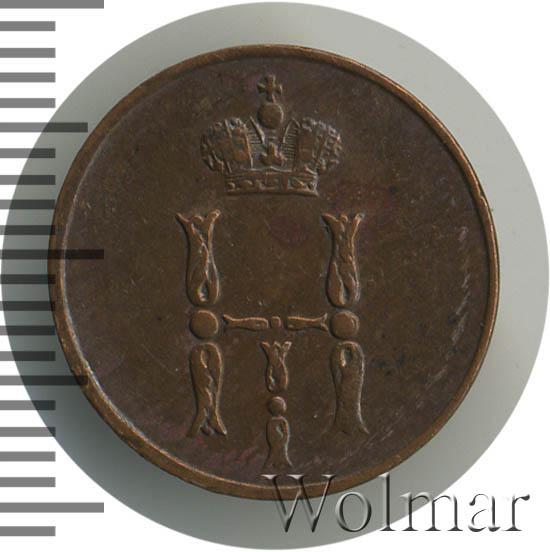 Денежка 1852 г. ЕМ. Николай I. Екатеринбургский монетный двор