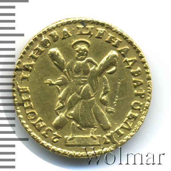 2 рубля 1723 г. Петр I Портрет в латах. С пальмовой ветвью на груди