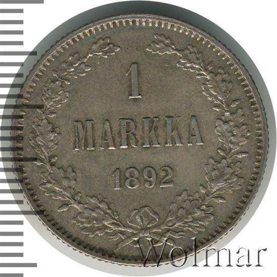 1 марка 1892 г. L. Для Финляндии (Александр III).
