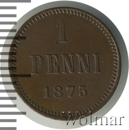 1 пенни 1875 г. Для Финляндии (Александр II).