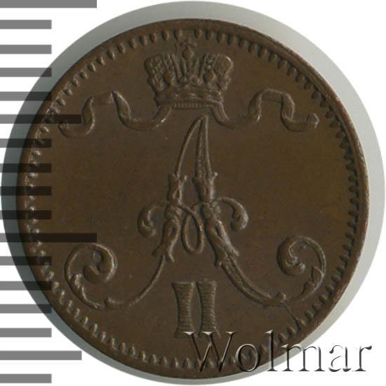 1 пенни 1875 г. Для Финляндии (Александр II)