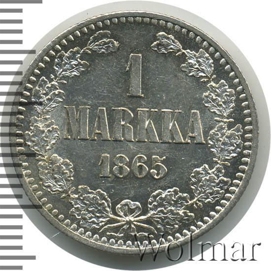 1 марка 1865 г. S. Для Финляндии (Александр II).
