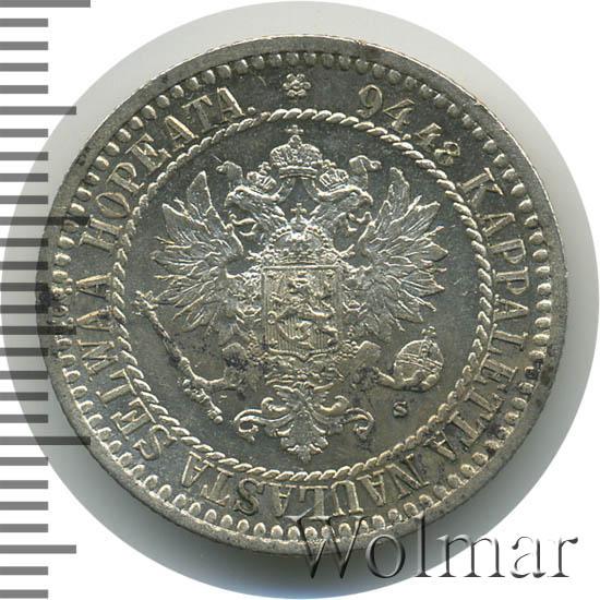 1 марка 1865 г. S. Для Финляндии (Александр II)