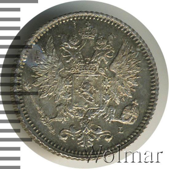 25 пенни 1891 г. L. Для Финляндии (Александр III)