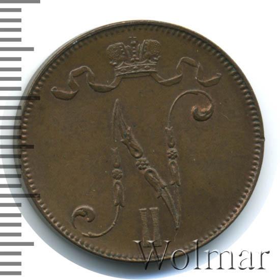 5 пенни 1901 г. Для Финляндии (Николай II)