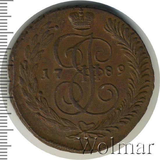 5 копеек 1789 г. АМ. Екатерина II. Аннинский монетный двор