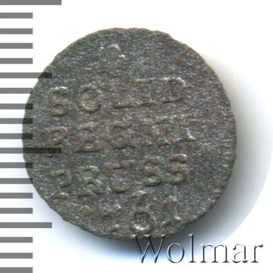 Солид 1761 г. Для Пруссии (Елизавета I).