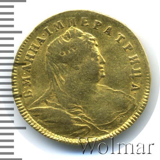 1 червонец 1739 г. Анна Иоанновна.