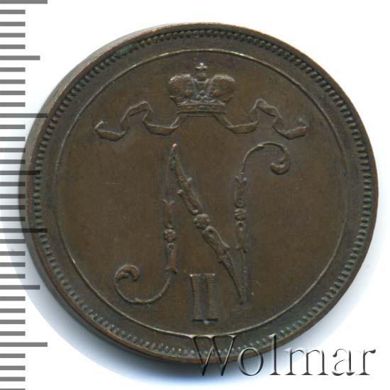 10 пенни 1907 г. Для Финляндии (Николай II)