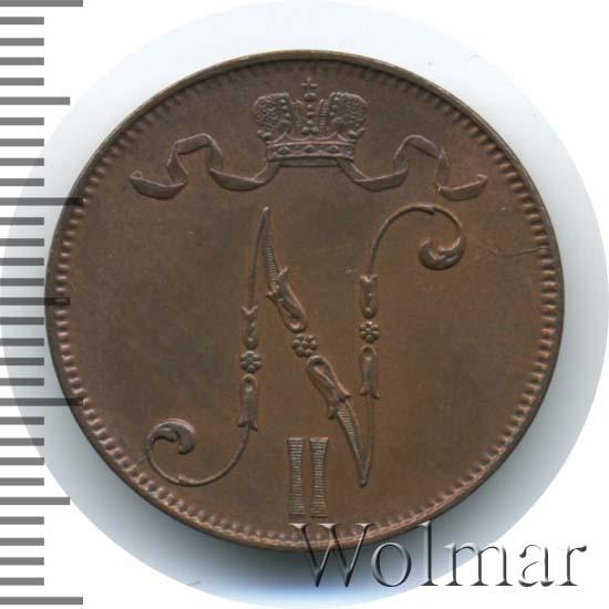 5 пенни 1899 г. Для Финляндии (Николай II)