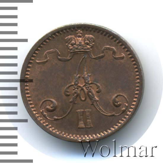 1 пенни 1874 г. Для Финляндии (Александр II)