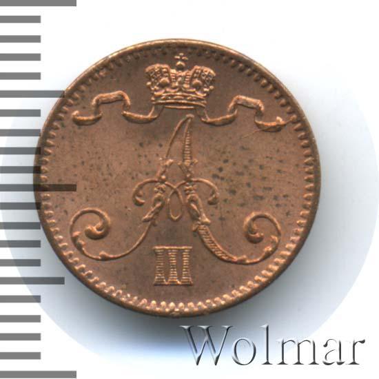 1 пенни 1883 г. Для Финляндии (Александр III).
