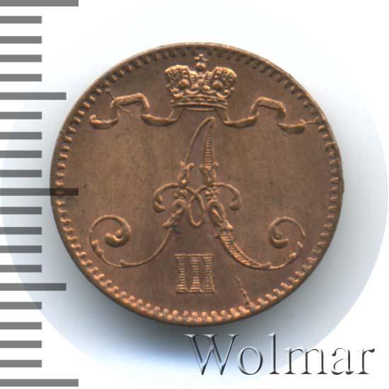 1 пенни 1888 г. Для Финляндии (Александр III)