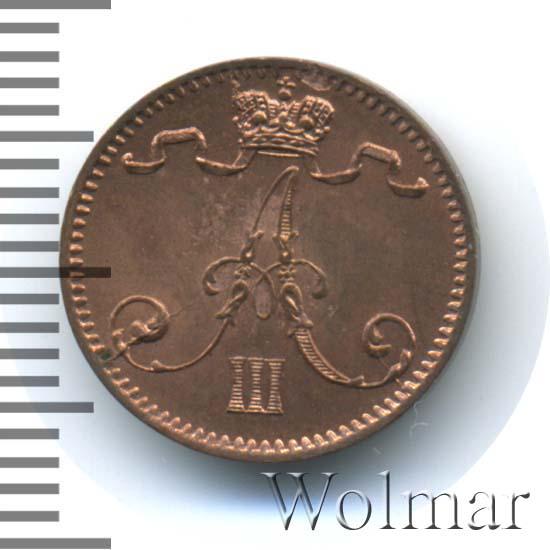 1 пенни 1892 г. Для Финляндии (Александр III)