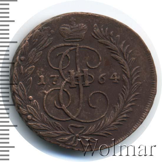 2 копейки 1764 г. ММ. Екатерина II Буквы ММ