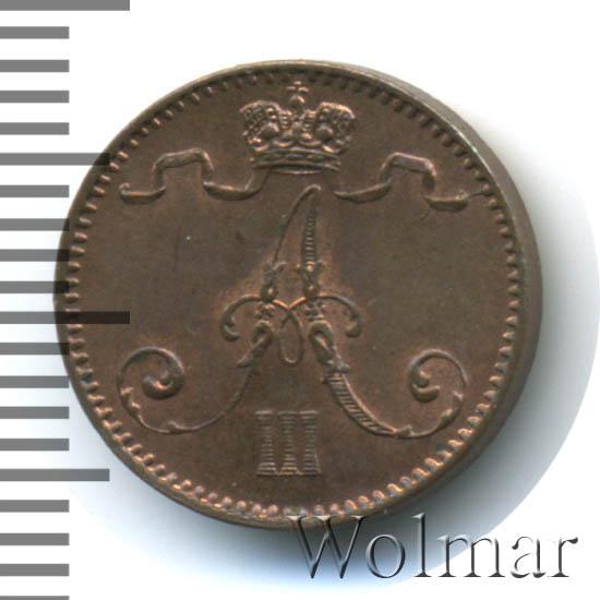1 пенни 1893 г. Для Финляндии (Александр III)