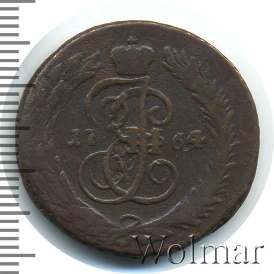 1 копейка 1764 г. СПМ. Екатерина II Буквы СПМ