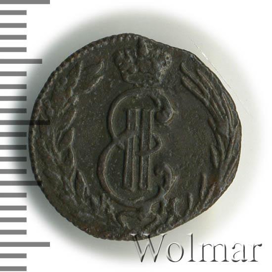 Полушка 1774 г. КМ. Сибирская монета (Екатерина II). Тиражная монета