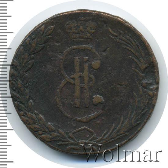 10 копеек 1766 г. Сибирская монета (Екатерина II) Тиражная монета