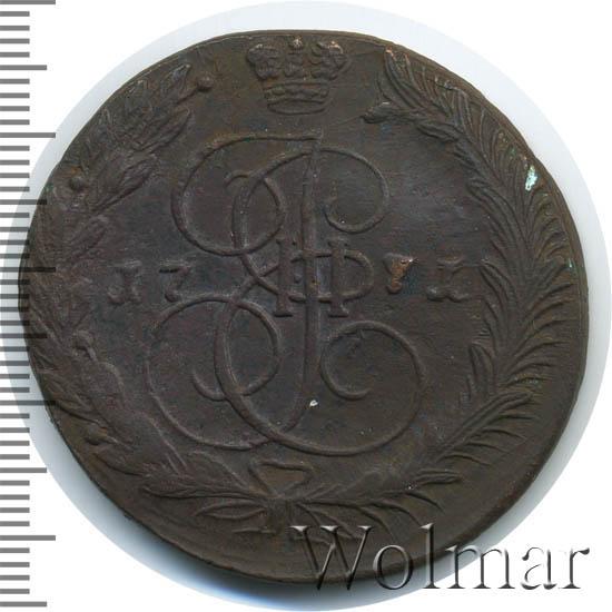 5 копеек 1771 г. ЕМ. Екатерина II. Орел 1770-1777