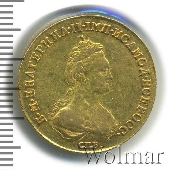 5 рублей 1782 г. СПБ. Екатерина II. Тиражная монета