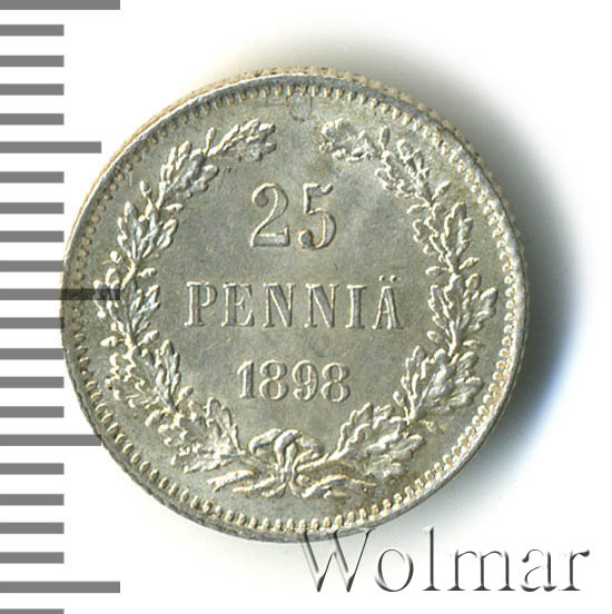 25 пенни 1898 г. L. Для Финляндии (Николай II).