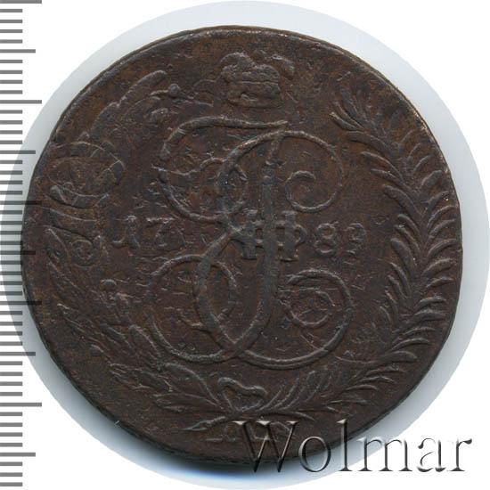 5 копеек 1789 г. ММ. Екатерина II Красный монетный двор