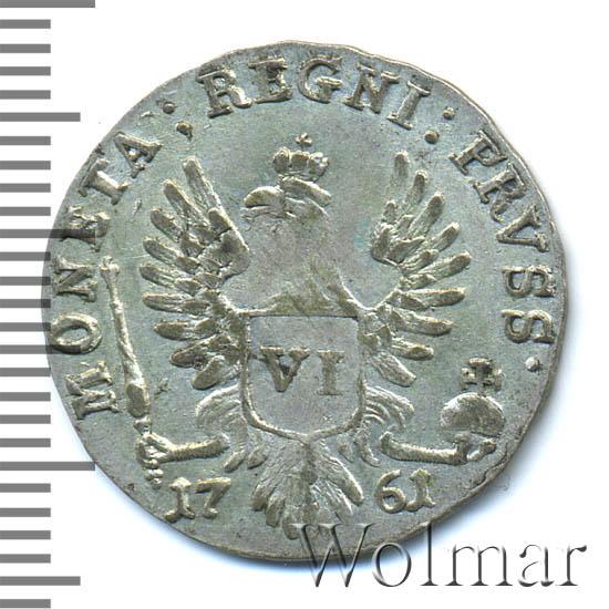 6 грошей 1761 г. Для Пруссии (Елизавета I)