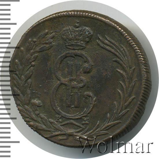 2 копейки 1772 г. КМ. Сибирская монета (Екатерина II). Тиражная монета