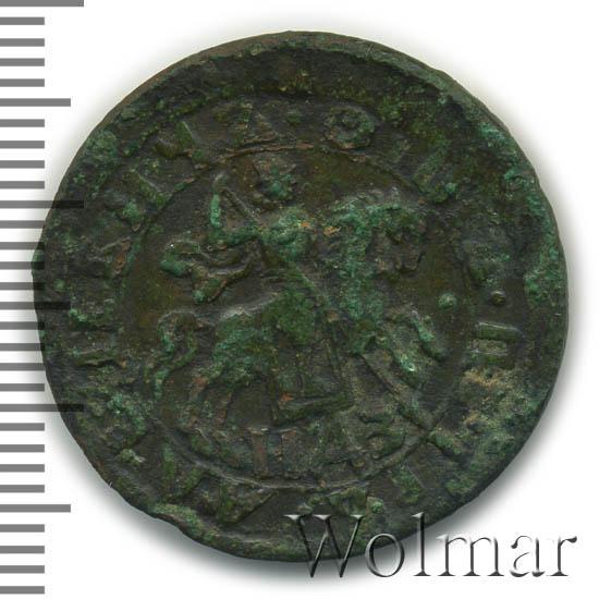 1 копейка 1716 г. НДЗ. Петр I Обозначение монетного двора