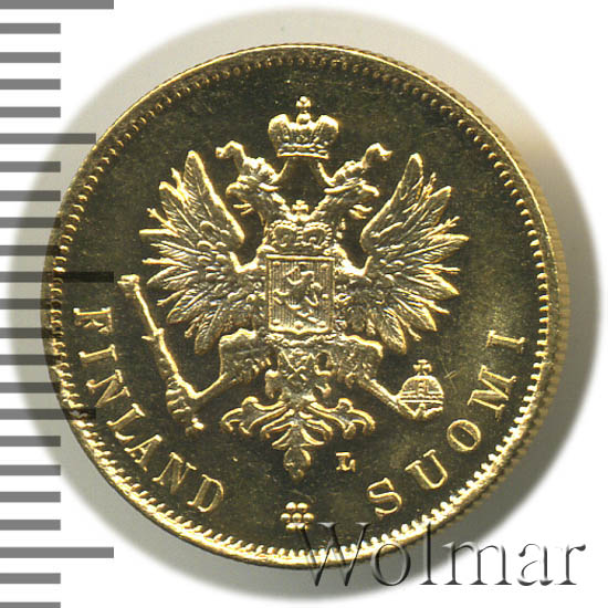 10 марок 1905 г. L. Для Финляндии (Николай II).