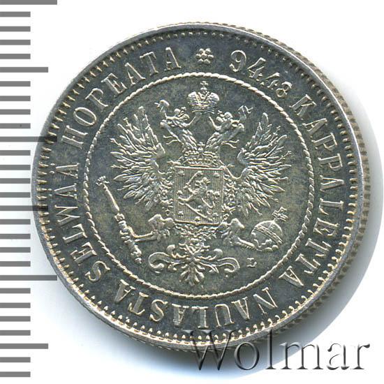 1 марка 1893 г. L. Для Финляндии (Александр III)