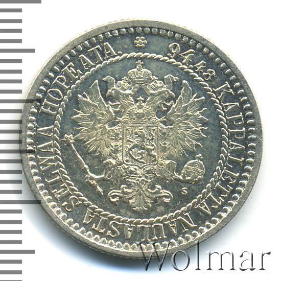 1 марка 1866 г. S. Для Финляндии (Александр II).