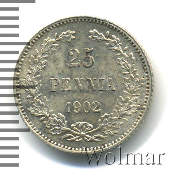 25 пенни 1902 г. L. Для Финляндии (Николай II).