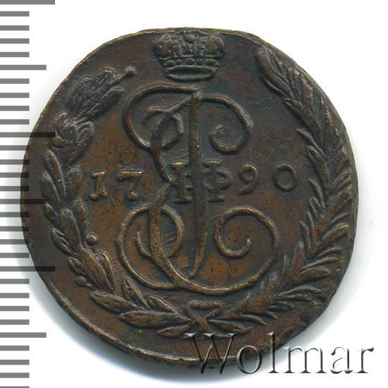 1 копейка 1790 г. ЕМ. Екатерина II. Буквы ЕМ