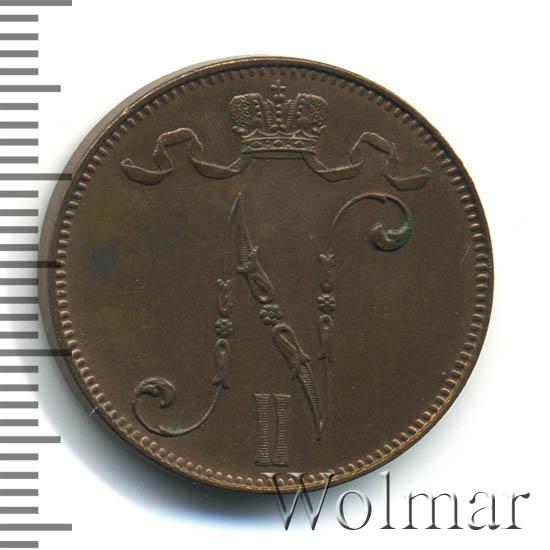 5 пенни 1907 г. Для Финляндии (Николай II)