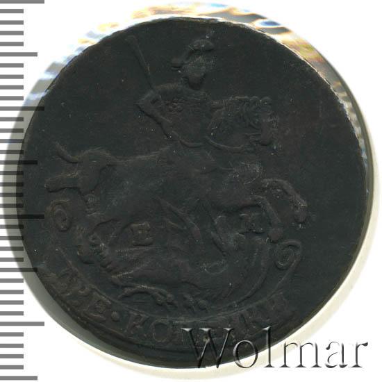 2 копейки 1793 г. ЕМ. Екатерина II. Буквы ЕМ