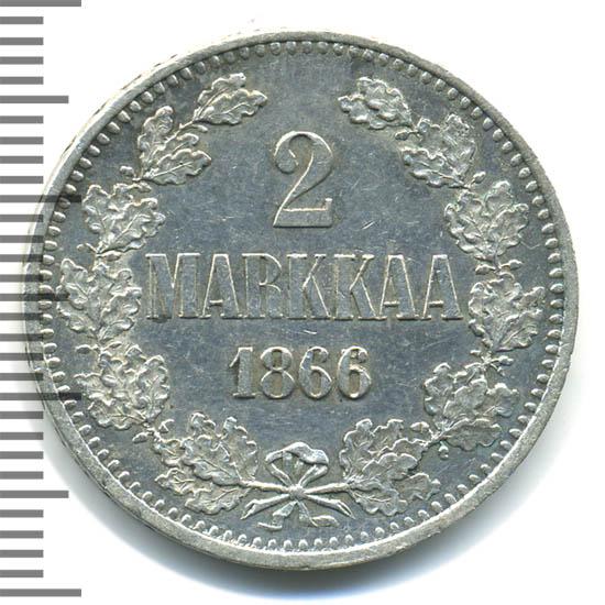 2 марки 1866 г. S. Для Финляндии (Александр II).