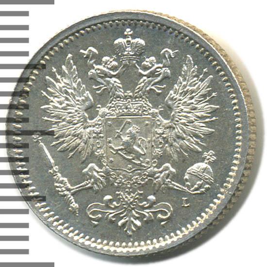50 пенни 1891 г. L. Для Финляндии (Александр III)