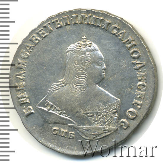 Полтина 1749 г. ММД. Елизавета I. Красный монетный двор